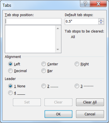 Tab Dialog Box