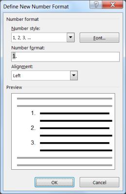 Define New Number Format