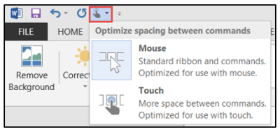 QAT Touch Mouse Icon