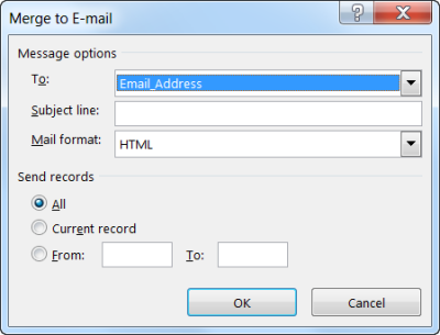 Merge to E-mail