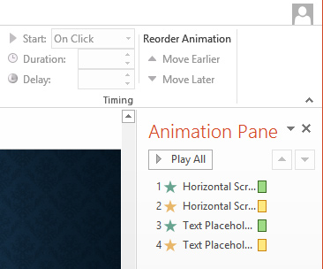 Animation Pane