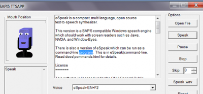 espeak-windows