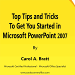 tips and tricks for powerpoint 2007