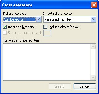 Cross Reference