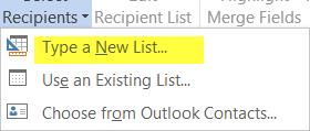 Type a New List