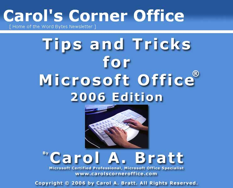 Tips and Tricks for Microsoft Office